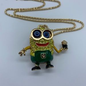 New minion green and gold fashion pendant necklace